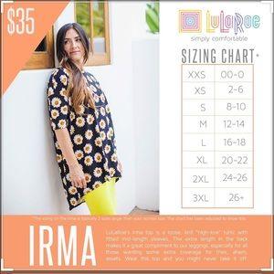 LuLaRoe Tops - Lularoe Sunshine Yellow Irma Shirt